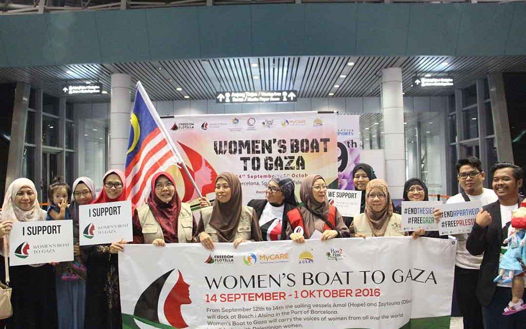 Pelepasan ahli misi Women's Boat to Gaza 2016