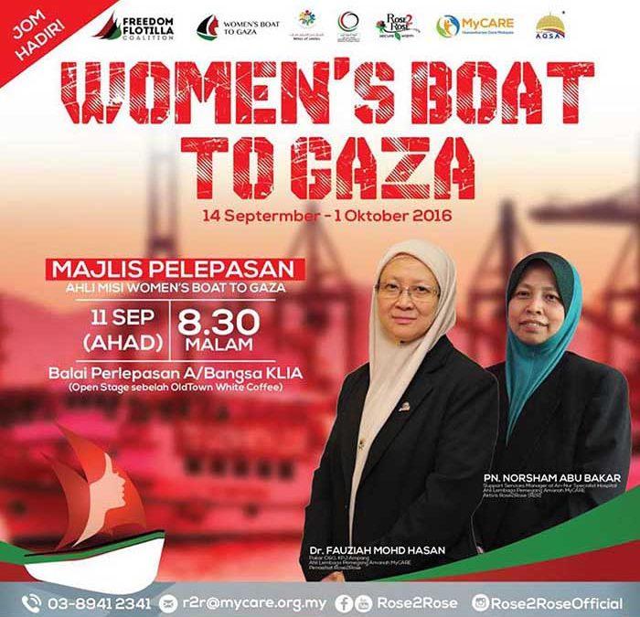 Majlis Pelepasan Misi Women's Boat to Gaza