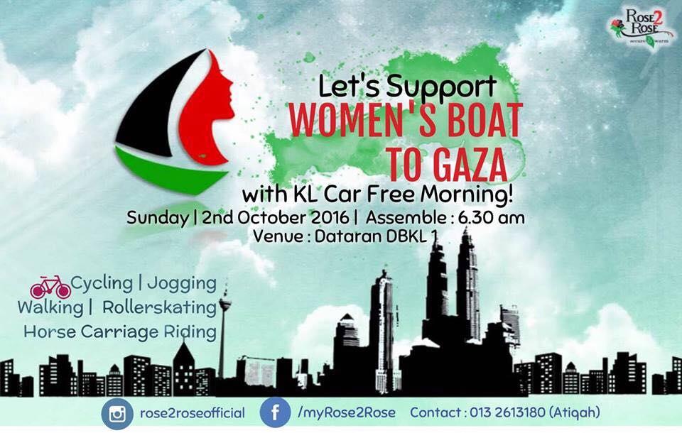 Bersolidariti bersama Women's Boat to Gaza