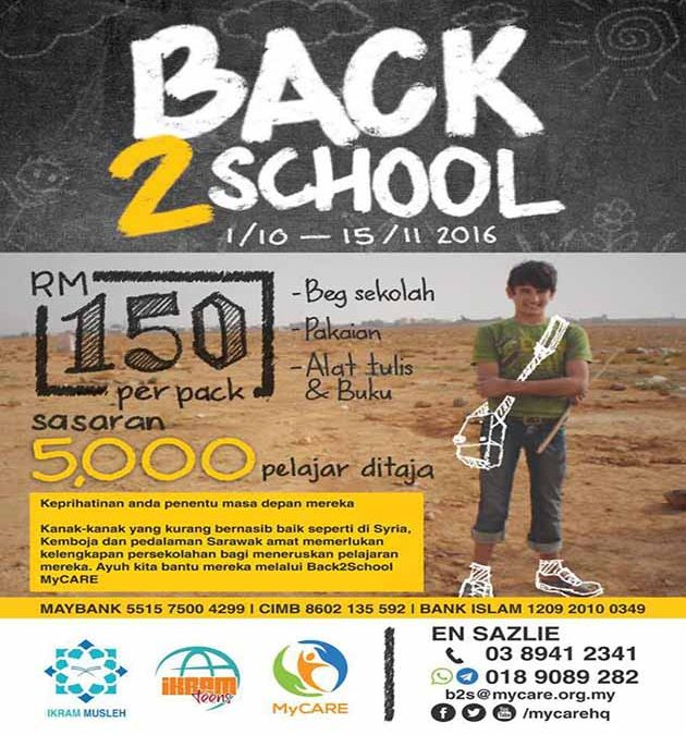 Program Back2School (B2S) MyCARE kembali lagi!