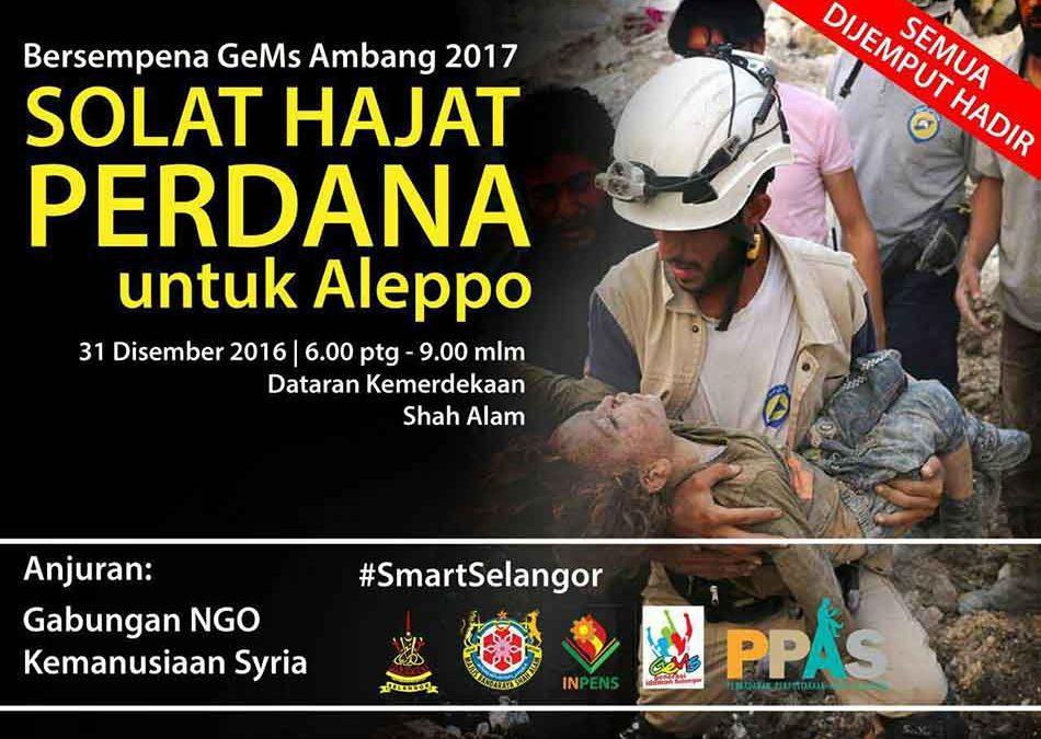 Solat Hajat Perdana untuk Aleppo