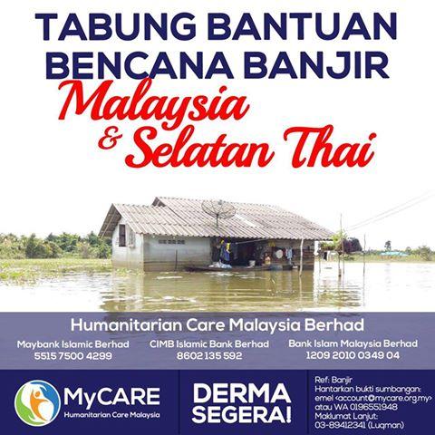 Tabung Bantuan Bencana Banjir Malaysia & Selatan Thailand