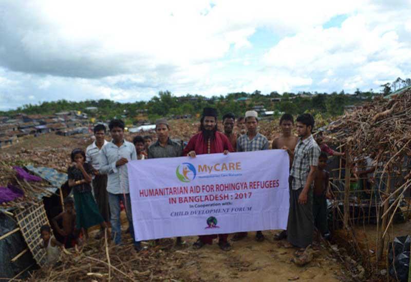 Penyaluran bantuan kepada etnik Rohingya di Cox's Bazar