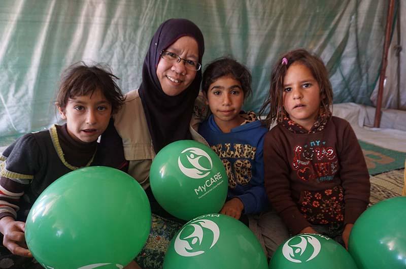 Sumbangan set kebersihan & alat tulis ke kem pelarian Syria