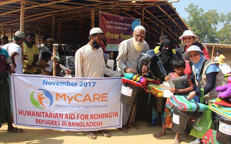 Sumbangan di kem pelarian Rohingya
