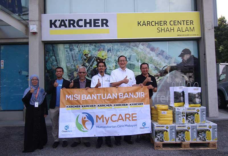 Karcher Malaysia beri bantuan sumbangan untuk mangsa banjir