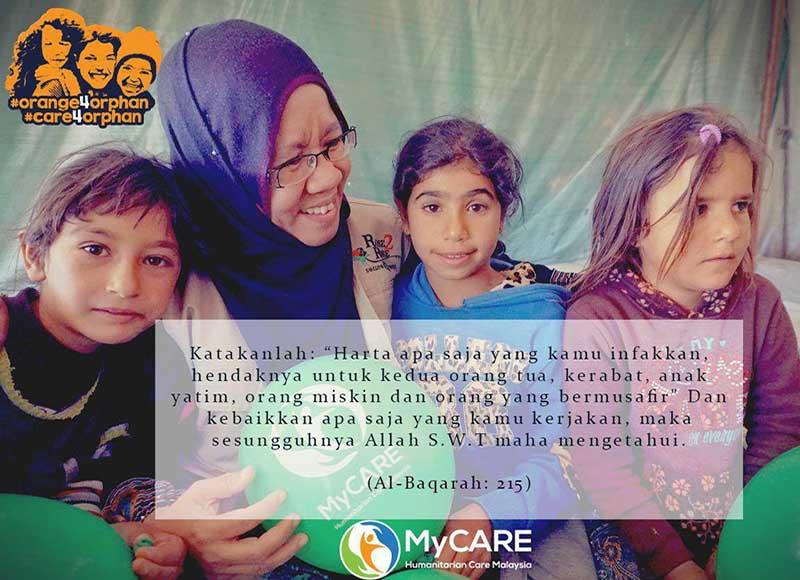 MyCARE membuka tajaan anak yatim Iraq