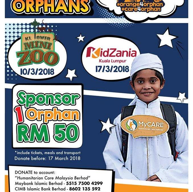 Jom taja anak yatim untuk ke Mini Zoo dan KidZania!