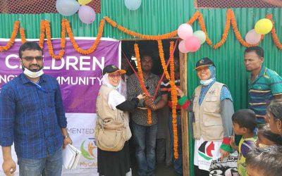 Pelancaran Pusat Komuniti Wanita & Kanak-Kanak di Kem Kutupalong