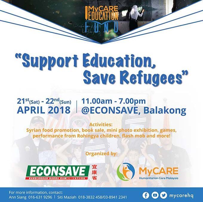 MyCARE Education Fund: Support Education, Save Refugees