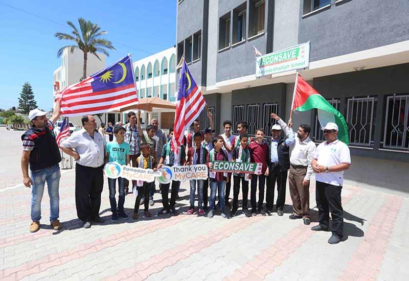 MyCARE-Econsave bina semula sekolah di Gaza