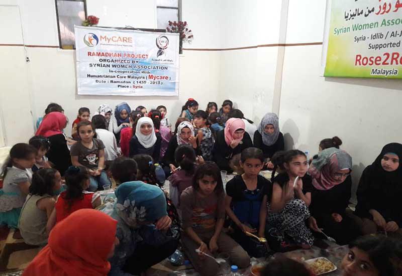 Iftar Perdana untuk asnaf di Syria