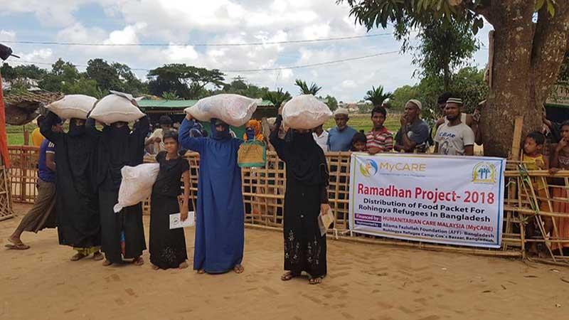 Bantuan Ramadan untuk pelarian Rohingya di Cox's Bazaar