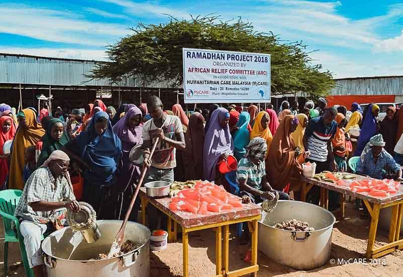 Iftar Perdana untuk asnaf di Mogadishu, Somalia