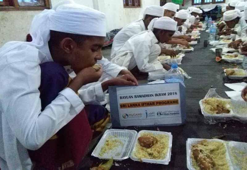 Iftar Perdana untuk golongan asnaf di Sri Lanka