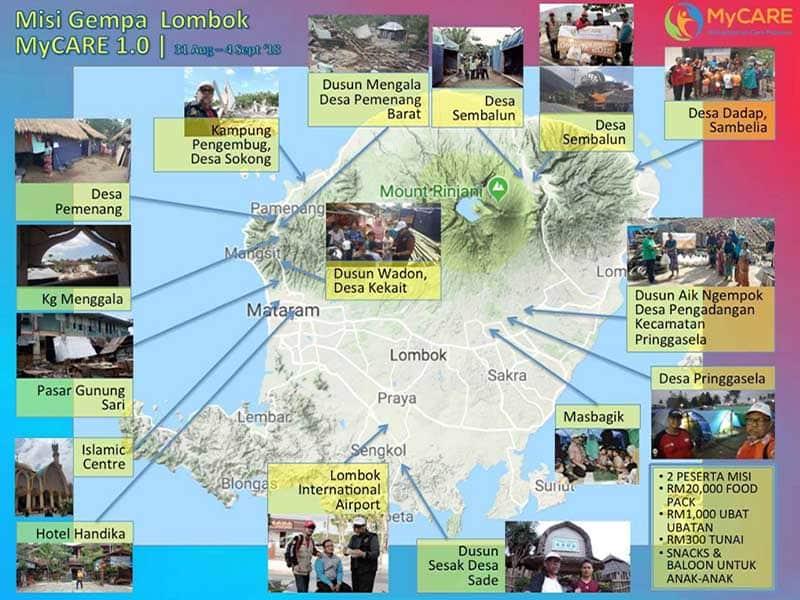 Keperluan mendesak mangsa gempa bumi Lombok