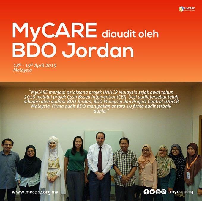 MyCARE diaudit oleh BDO Jordan