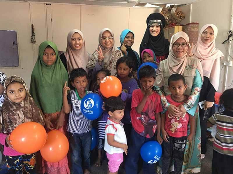 MyCARE santuni 30 keluarga Rohingya di Sungai Tekali