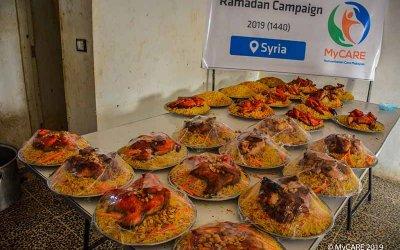 Iftar Jamaie kepada rakyat Syria di wilayah Atmah