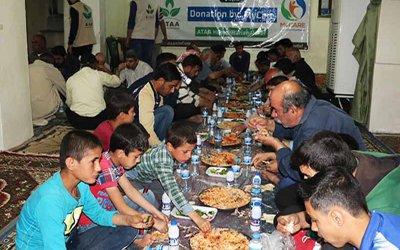 Iftar Jamaie untuk pelarian baru di Maarat Syalf