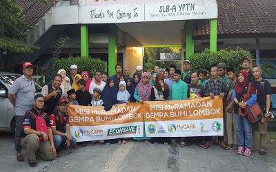 Santuni anak-anak cacat penglihatan di Lombok