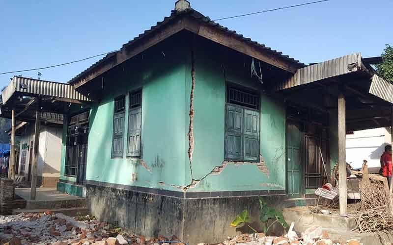 Kunjungan kawasan mangsa gempa