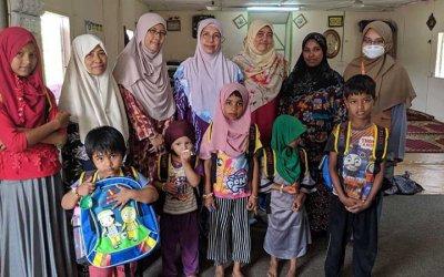 Rohingya Homeschooling (Rose2Rose) : Ajari kami membaca, menulis & mengira