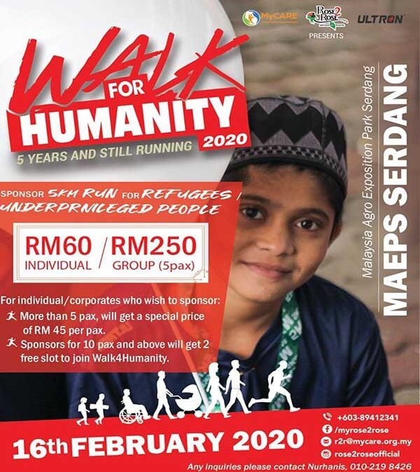 Walk4Humanity 2020 Sponsorship Invitation