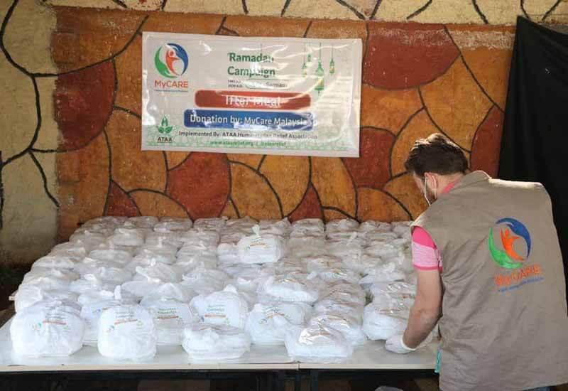 Pek iftar untuk pelarian Syria di Sarmada