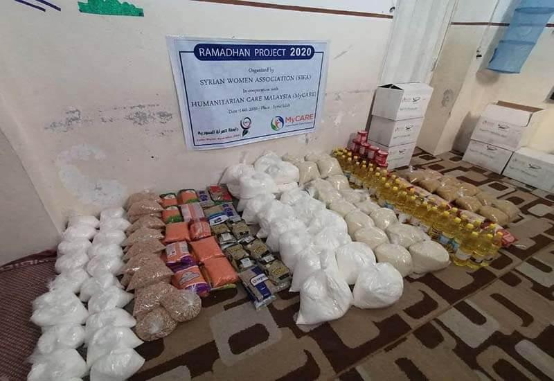 Pek makanan untuk pelarian Syria di Al-Janudiah