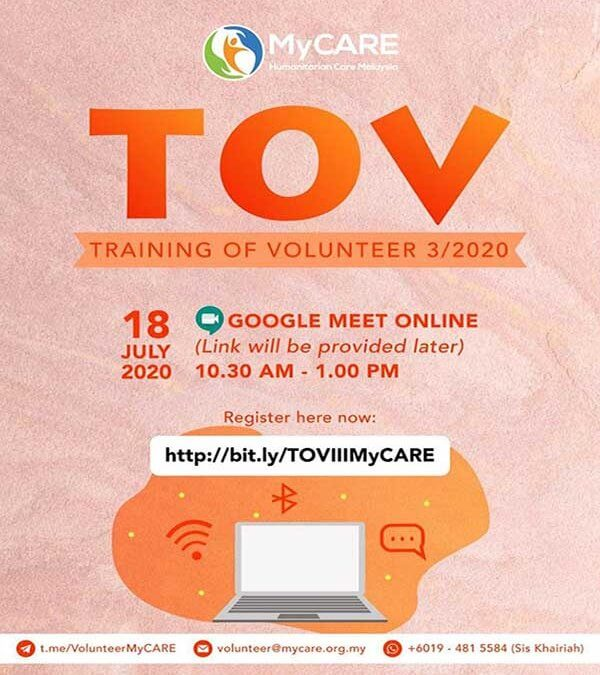 Training of Volunteers III/2020