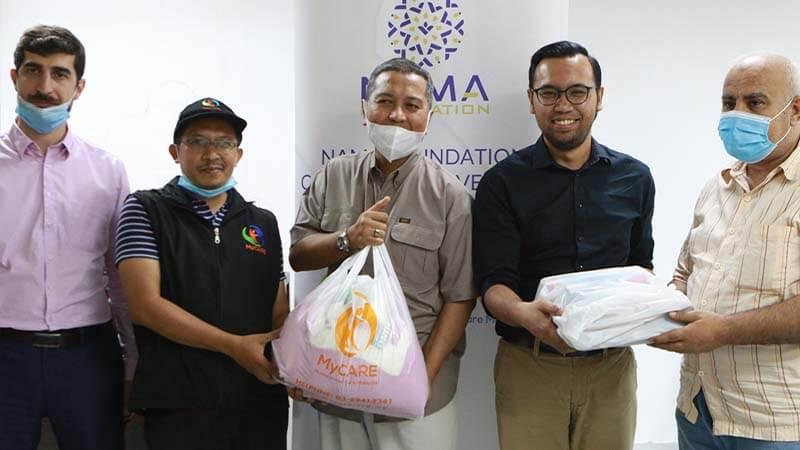 Bantuan bekalan makanan kepada pelarian Palestin [NAMAxMyCARE]