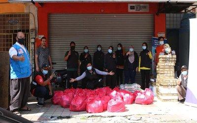 Bantuan bekalan makanan kepada pelarian Syria [NAMAxMyCARE]