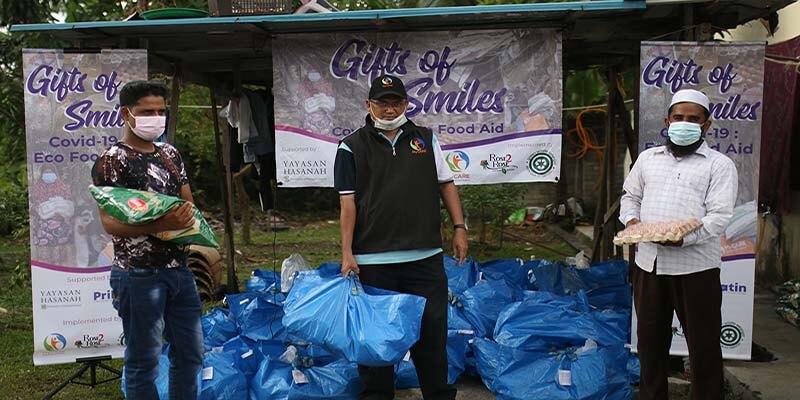 Bantuan untuk komuniti Rohingya di Sungai Sekamat